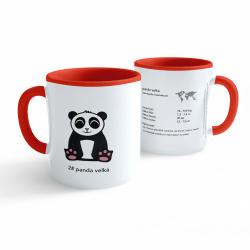 Obrázek Hrnek Tučňák a jeho kamarádi - #2 panda velká - červený 330ml