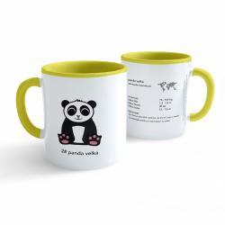 Obrázek Hrnek Tučňák a jeho kamarádi - #2 panda velká - žlutý 330ml