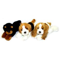 Obrázek plyšový pes ležící 23 cm - 3 druhy