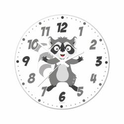 Obrázek Nástěnné hodiny Veselá zvířátka - Mýval 30cm