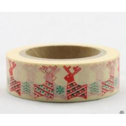 Obrázek Dekorační lepicí páska - WASHI tape-1ks zamilovaní sobi