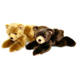 Obrázek plyšový medvěd 15cm ležící 2 druhy