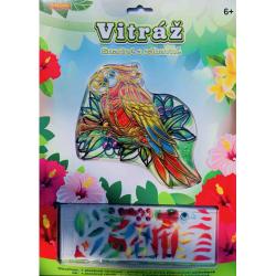 Obrázek Vitráž -papoušek