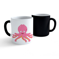 Obrázek Měnící hrnek Veselá zvířátka - Chobotnička