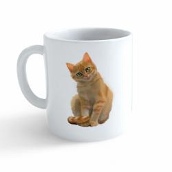 Obrázek Hrnek Malovaná zvířátka - Kočička