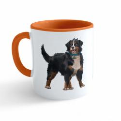 Obrázek Hrnček Maľovaná zvieratká - Psík - oranžový 330ml