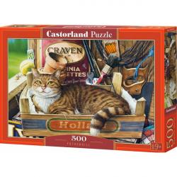 Obrázek Puzzle Castorland 500 dílků - Kočka v krabici