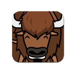 Obrázek Podtácek Tučňák a jeho kamarádi - #15 bizon americký