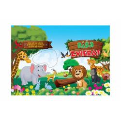 Obrázek Blok Ríša zvierat so samolepkami SK verzia 35x25cm