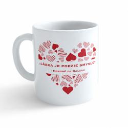 Obrázek Hrnček Valentín - Láska je poézia zmyslov