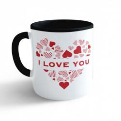 Obrázek Hrnek Valentýn - I Love You - černý 330ml
