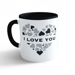 Obrázek Hrnek Valentýn - I Love You #2 - černý 330ml