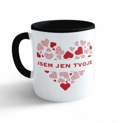 Obrázek Hrnek Valentýn - Jsem jen tvoje - černý 330ml