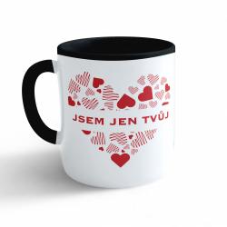 Obrázek Hrnek Valentýn - Jsem jen tvůj - černý 330ml