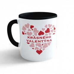 Obrázek Hrnek Valentýn - Krásného Valentýna - černý 330ml