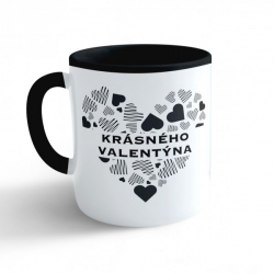 Obrázek Hrnek Valentýn - Krásného valentýna #2 - černý 330ml