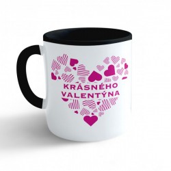 Obrázek Hrnek Valentýn - Krásného valentýna #3 - černý 330ml