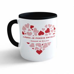 Obrázek Hrnek Valentýn - Láska je poezie smyslů - černý 330ml
