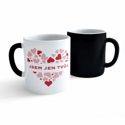 Obrázek Měnící hrnek Valentýn - Jsem jen tvůj