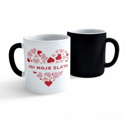 Obrázek Měnící hrnek Valentýn - Jsi moje zlato