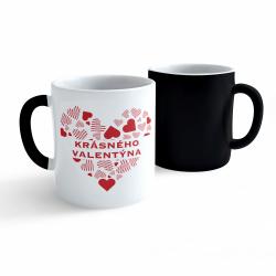 Obrázek Měnící hrnek Valentýn - Krásného Valentýna