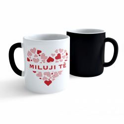 Obrázek Měnící hrnek Valentýn - Miluji Tě