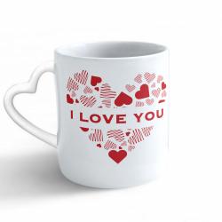 Obrázek Hrnek Valentýn - I Love You - srdce/ucho