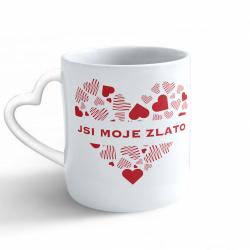 Obrázek Hrnek Valentýn - Jsi moje zlato - srdce/ucho