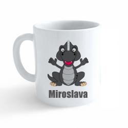 Obrázek Hrnek Dinosaurus se jménem - Miroslava