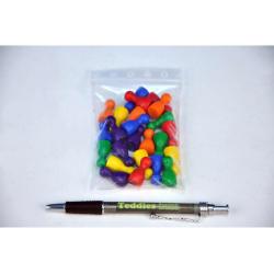Obrázek Figurky dřevo 25mm 24ks 6 barev společenská hra