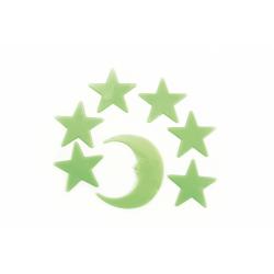 Obrázek Hvězdy svítící ve tmě 5,5cm plast  12x20cm