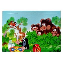 Obrázek Puzzle krtek- 12 dílků - mlsní medvědi