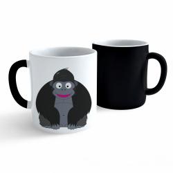 Obrázek Měnící hrnek Veselá zvířátka - Gorila