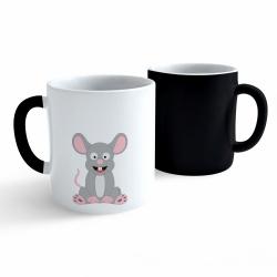 Obrázek Měnící hrnek Veselá zvířátka - Myška