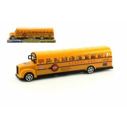 Obrázek Autobus školní plast 30cm na setrvačník v blistru