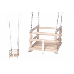Obrázek Houpačka Baby dřevěná 33x30cm nosnost 80kg v sáčku 6m+