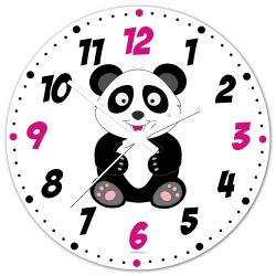 Obrázek Nástěnné hodiny Veselá zvířátka - Panda 30cm
