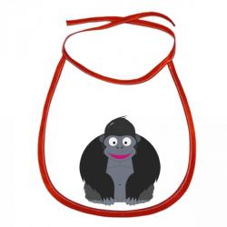 Obrázek Dětský bryndák Veselá zvířátka - Gorila - červený