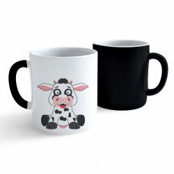 Obrázek Měnící hrnek Veselá zvířátka - Kráva
