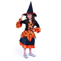 Obrázek Dětský kostým čarodějnice/Halloween (S)