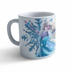 Obrázek Hrnek Pohádky - Ledová princezna - třpytivý stříbrný