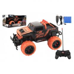 Obrázek Auto RC buggy plast 27cm 27MHz na baterie + dobíjecí pack v krabici 36x18,5x19cm