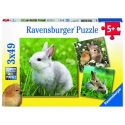 Obrázek Puzzle Roztomilý králíček 3x49 dílků