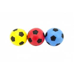 Obrázek Loptička futbal guma 12cm 6 farieb v sieťke