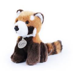 Obrázek plyšová panda červená, sedící, 18 cm