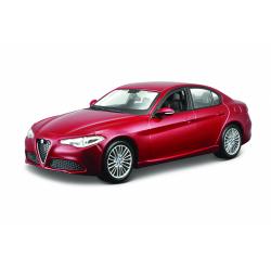 Obrázek Bburago 1:24 Plus Alfa Romeo Giulia (2016) Metallic Red