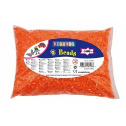 Obrázek Zažehlovací korálky - 6 000 ks - oranžové