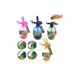 Obrázek Pumpa na vodní bomby + bomby 100ks plast s přívěškem 28cm 4 barvy