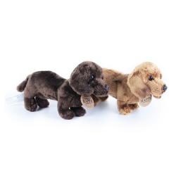 Obrázek plyšový pes jezevčík stojící 2dr., 19 cm