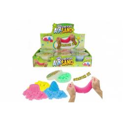 Obrázek Sliz - hmota vzdušný písek 50g 4 barvy v plastové krabičce 12ks v boxu